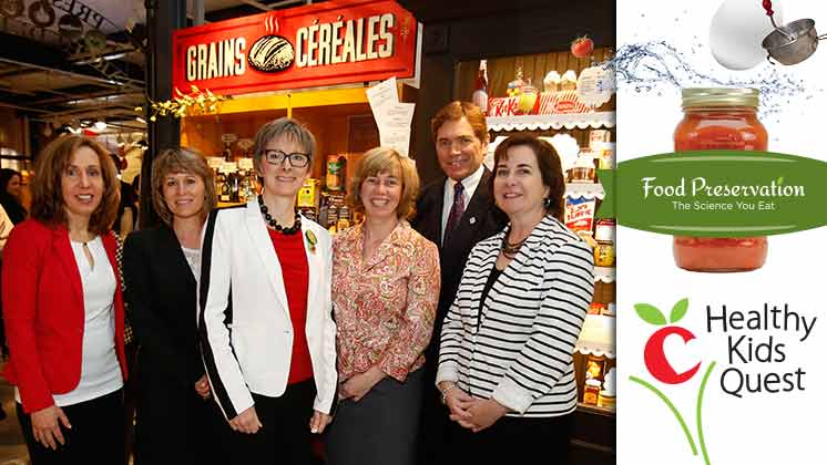 Nestlé Canada employees at new food exhibit