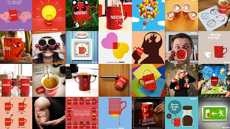 Collage of Nescafe images