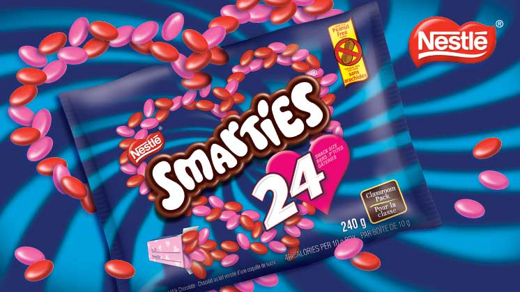 Smarties 24 count Valentine's classroom pack