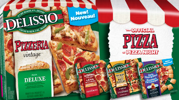 New Delissio pizza