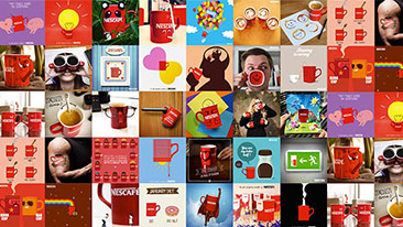 Collage of Nescafé images