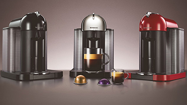 The new VertuoLine large cup coffee machine