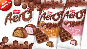 New Aero Caramel and Strawberry
