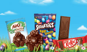 New products for Easter: Kit Kat Bunny, Aero Peppermint Lamb and Smarties Eggs