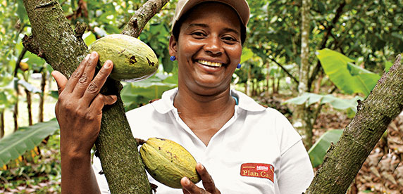 woman cocoa farmer