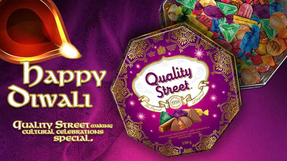 Celebrate Diwali with the new <em>Quality Street </em>tin