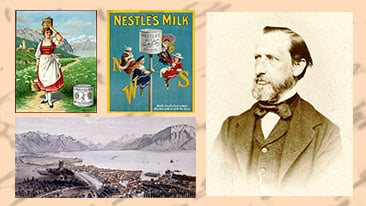 Henri Nestle collage of historical images
